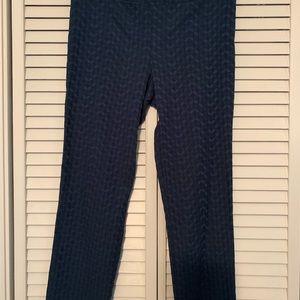 Stitch Fix Margaret M green pattern slimming pant